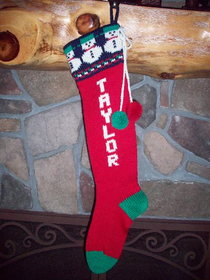 100% Wool, Knitted, Personalized Christmas Stockings